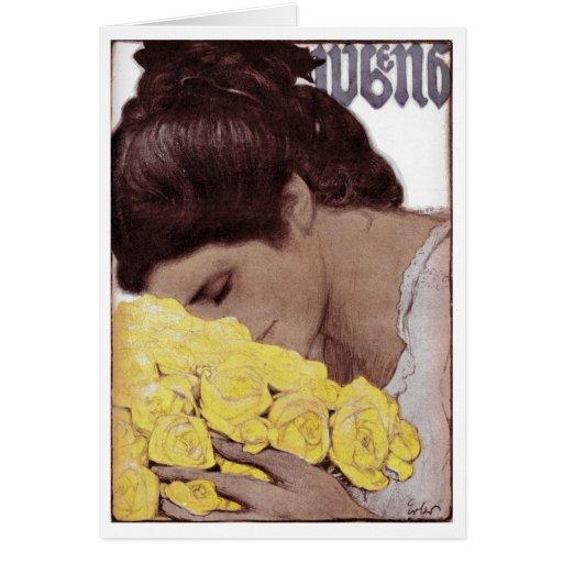 "1904 ""YELLOW ROSES"" MAGAZINE COVERART CARDS"