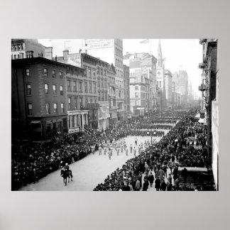 1905 5ta impresión del desfile de la avenida NYC Póster