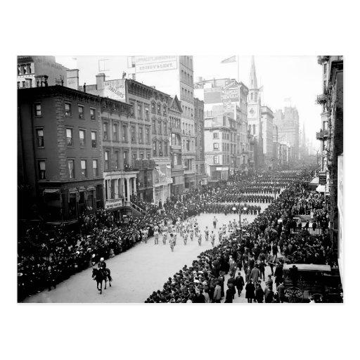 1905 5ta postal del desfile de la avenida NYC