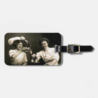 1905 Beer Drinking Girlfriends Travel Bag Tag