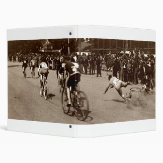 1905 Bicycle Race Wipe Out Binder