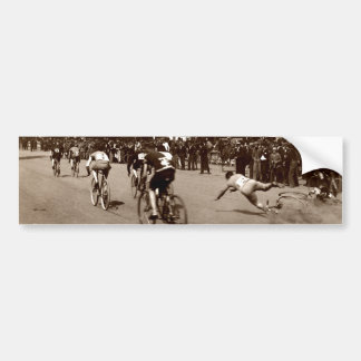 1905 Bicycle Race Wipe Out Bumper Sticker