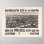 1905 Branford, CT Birds Eye View Panoramic Map Print