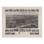 1905 Branford, mapa panorámico de la opinión de oj Posters