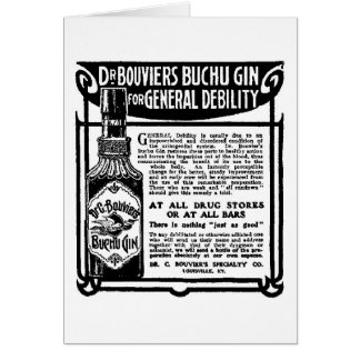 1905 Buchu Gin newspaper advertisement Card