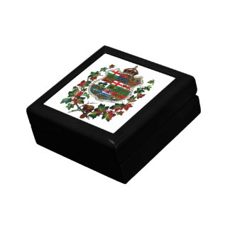 1905 Canadian Coat of Arms Jewelry Box