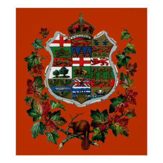 1905 Canadian Coat of Arms Print