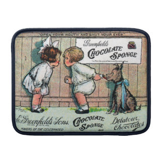 1905 Chocolate Candy Ad MacBook Sleeves