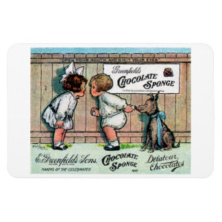 1905 Chocolate Candy Ad Flexible Magnet