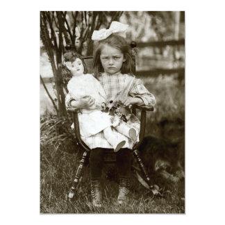 "1905 Cranky Girl 5"" X 7"" Invitation Card"