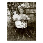 1905 Cranky Girl Post Card
