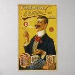 ~ 1905 de Rusia del ~ de los papeles de cigarrillo Posters