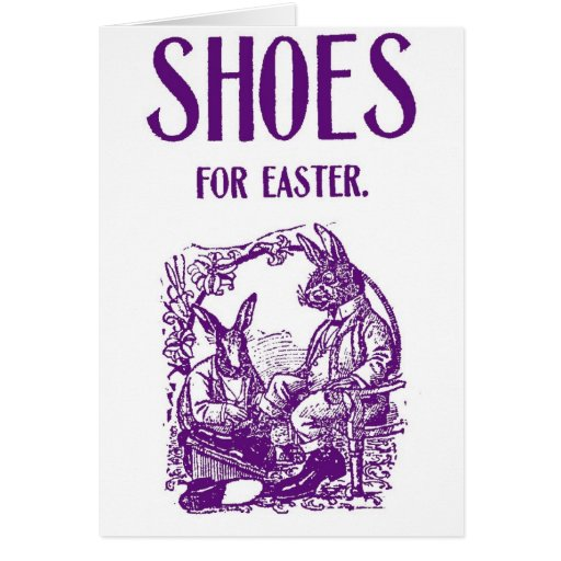 1905 Easter Bunny Shoe Advertisement Card