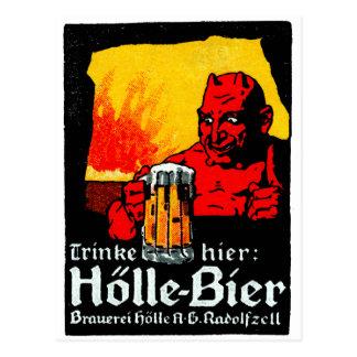 1905 German Beer Poster Postcard