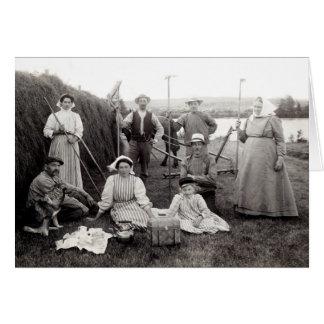 1905 granjeros suecos tarjeta de felicitación