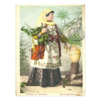 1905 Greek Femme de Salamis postcard