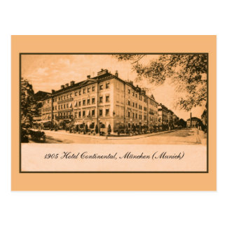 1905 Hotel Continental Munich Germany Post Card