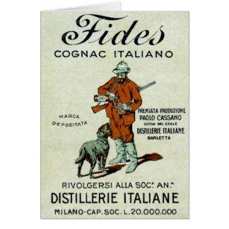 1905 Italian Cognac Card