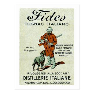 1905 Italian Cognac Postcard