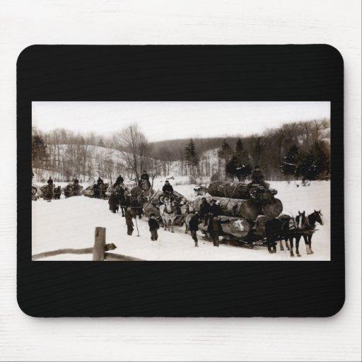 1905 Lumberjacks at work Mouse Pads