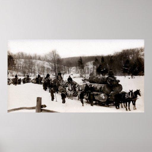 1905 Lumberjacks at work Posters