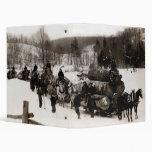 1905 Lumberjacks at work Vinyl Binder