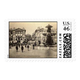 1905 Place de la Concorde Paris Vintage stamp