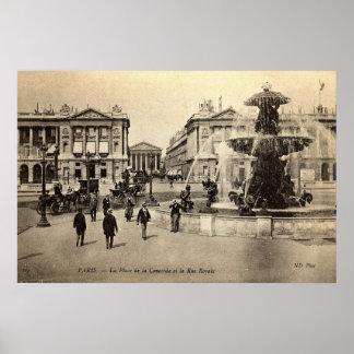 1905 Place de la Concorde Paris Vintage Poster