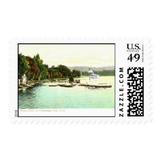1905 punto de Bemus del vintage, lago NY Chautaqua Franqueo