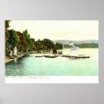 1905 punto de Bemus del vintage ZHR0031, lago Chau Posters