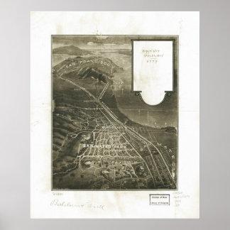 1905 San Mateo, mapa panorámico de la opinión de o Impresiones