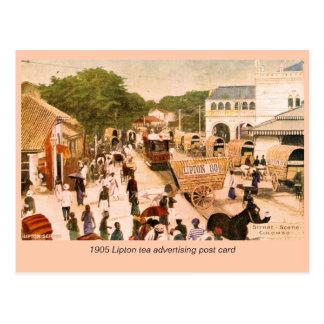 1905 Street Scene Colombo Ceylon Lipton Postcards