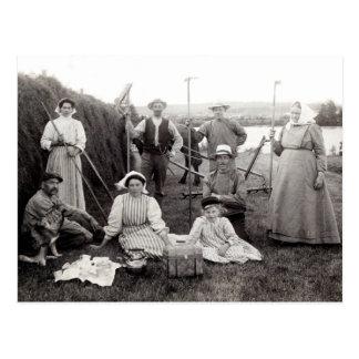 1905 Swedish Farmers Postcard