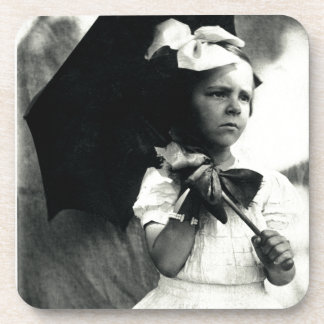 1905 Tough Little Girl Drink Coaster