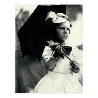 1905 Tough Little Girl Postcard