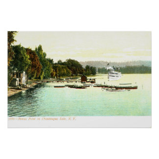 1905 Vintage Bemus Point, Chautaqua Lake, Poster