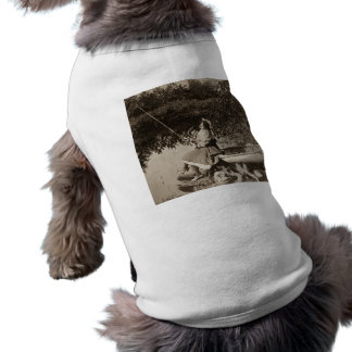 1906 A Slight Nibble Vintage Stereoview Card Shirt