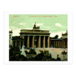 1906 Brandenburg Gate, Berlin, Germany Vintage Postcard