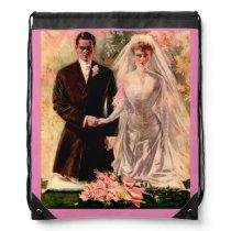 1906 Edwardian wedding Drawstring Bag