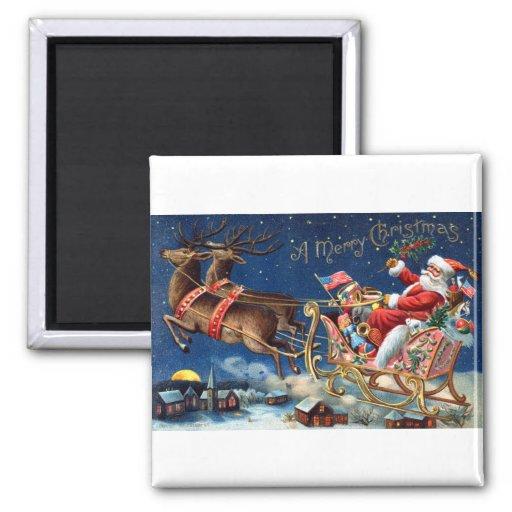 1906 Felices Navidad Imán De Frigorífico