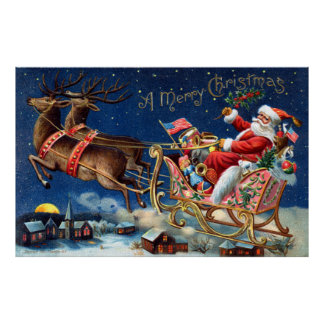 1906 Merry Christmas Poster