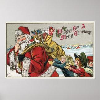 1906 Papá Noel famoso hermoso Posters