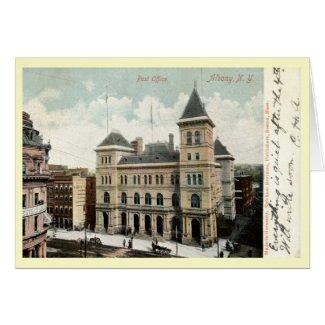 1906 Post Office ALBANY NEW YORK NY Vintage! card