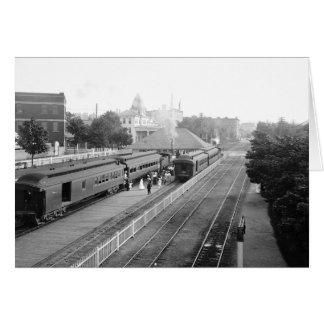 1906 Suburban Station Petosky Mass. Card