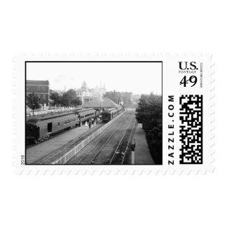 1906 Suburban Station Petosky Mass. Stamps