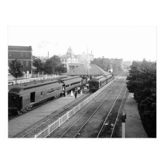 1906 Suburban Station Petosky Mass. Postcards
