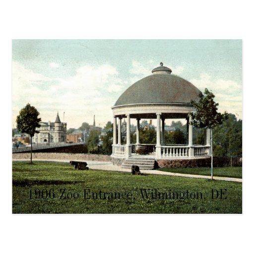 1906 Zoo Entrance, Wilmington, DE Postcard