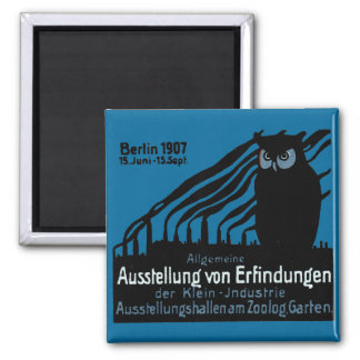 1907 Berlin Exhibition Poster 2 Inch Square Magnet