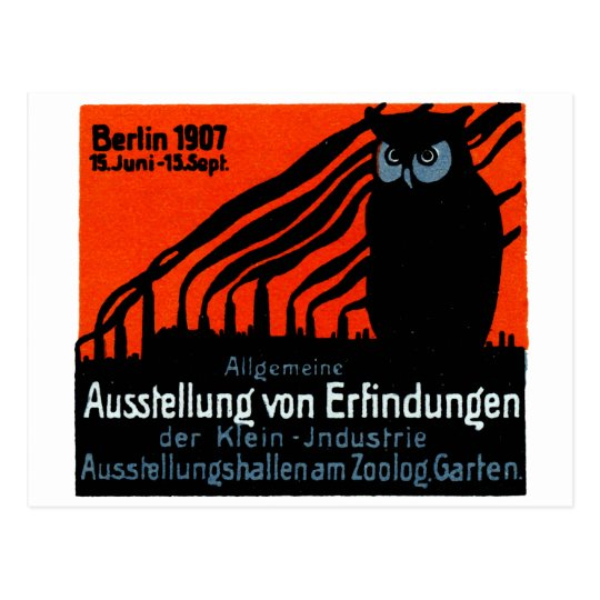 1907 Berlin Exhibition Poster Postcard