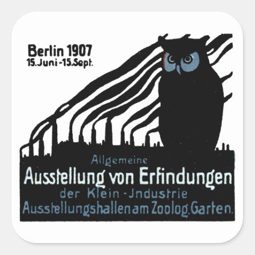 1907 Berlin Exhibition Poster Square Sticker